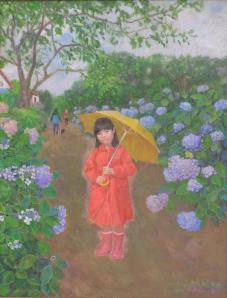 「紫陽花の道」 五十嵐明子  示現会展