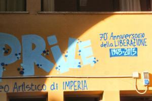 インペリアの小学校に描かれた壁画
